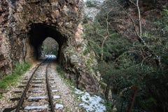 Ущелье Vouraikos, Пелопоннес, Греция Стоковое Фото