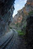 Ущелье Vouraikos, Пелопоннес, Греция Стоковое Изображение