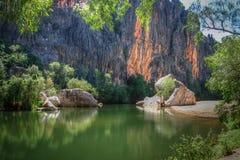 Ущелье Windjana, Кимберли, западная Австралия стоковые изображения rf
