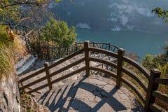 Ущелье Yiling Рекы Янцзы Three Gorges Dengying в коридоре горы Стоковые Фотографии RF