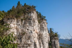 Ущелье Yiling Рекы Янцзы Three Gorges Dengying в коридоре горы Стоковое фото RF
