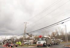 Уэйн, Нью-Джерси, США 03/31/2019: Изображение ackground работников коммунальной услуги стоковое фото