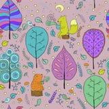 Уютная безшовная картина о чае леса Стоковое фото RF