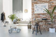 Уютная квартира-студия стоковые фотографии rf