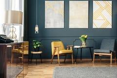 Уютная комната с креслами стоковое фото