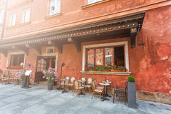 Уютное внешнее кафе Стоковые Фото