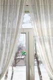 Уютное окно рождества Стоковые Изображения