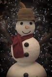 Уютный винтажный снеговик Стоковая Фотография