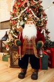Уютный интерьер дома рождества Стоковые Фото