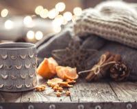 Уютный натюрморт чашки чая рождества Стоковая Фотография RF