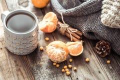 Уютный натюрморт чашки чая рождества Стоковые Фотографии RF
