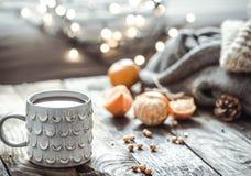 Уютный натюрморт чашки чая рождества Стоковое Изображение RF