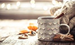 Уютный натюрморт чашки чая рождества Стоковая Фотография
