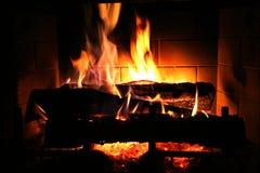 уютный пожар Стоковые Изображения RF