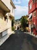 Уютный проход острова Heybeliada стоковая фотография rf