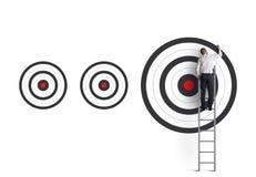 Ударять цель большого бизнеса Стоковые Изображения RF