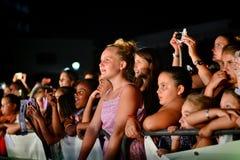 Удар бывших кандидатов X-фактора 4-ый выполнил на ежегодных ночах лета Гибралтара Стоковое Изображение