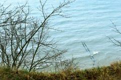 Удар волн волны моря на утесах Стоковые Изображения RF