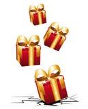 Удар коробок подарков. бесплатная иллюстрация
