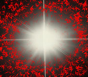 Удар молнии производя пирофакел Стоковое Фото