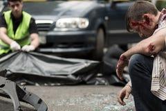 удар человека стоковая фотография rf