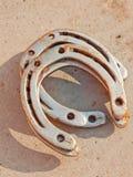 Удачливая horseshoe предпосылка Стоковое Изображение