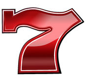 Удачливый шрифт 7 шлицев Стоковое Фото