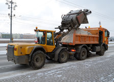 Удаление снега от дорог Стоковое Изображение RF
