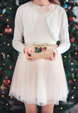 удерживание девушки подарка рождества Стоковая Фотография RF