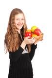 удерживание девушки свежих фруктов Стоковые Фотографии RF