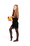 удерживание девушки свежих фруктов Стоковая Фотография