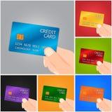удерживание руки кредита карточки Стоковое фото RF