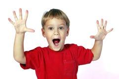 удивленный мальчик Стоковое Фото