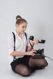 Удивленная девушка Стоковые Изображения