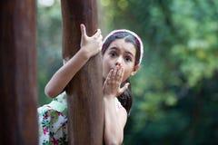 удивленная девушка Стоковая Фотография RF