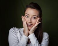 Удивленная женщина Стоковое фото RF