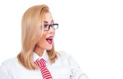 Удивленная или удивленная женщина стоковые фотографии rf
