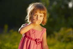 Удивленная маленькая девочка Стоковые Изображения RF