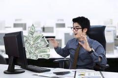 Удивленное выражение бизнесмена Стоковые Фото