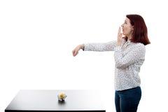 удивленные детеныши женщины Стоковое Изображение RF