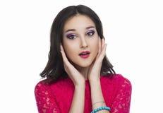 Удивленный девочка-подросток стоковые фотографии rf
