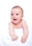 Удивленный и счастливый младенец стоковые фотографии rf