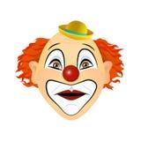 Удивленный клоун, изумленный взволнованность Иллюстрация вектора плоского дизайна Стоковые Изображения