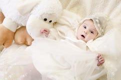 Удивленный младенец стоковое фото