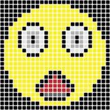 Удивленный смайлик пиксела Стоковое фото RF