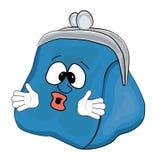 Удивленный шарж бумажника Стоковая Фотография RF