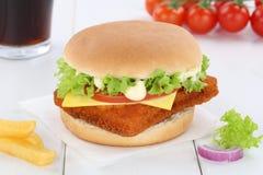 Удите питье еды меню гамбургера fishburger бургера комбинированное Стоковые Изображения