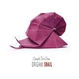 Улитка зеленого цвета Origami стоковые фотографии rf