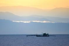 Удить корабль в море Стоковое Изображение