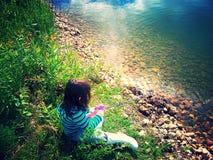 Удить на береге Стоковая Фотография RF